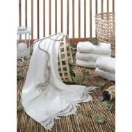 Dantela Vita 1800 Fransız Gipürlü Bambu Havlu Krem