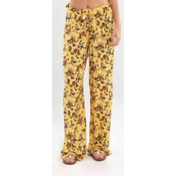 Blackspade Kadın Şort 6739 Sarı Çiçek Baskılı