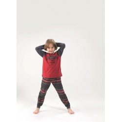 Blackspade Çocuk Pijama Takımı 6653 Kırmızı