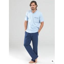 Blackspade Erkek Pijama Set 7342 Açık Mavi