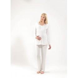 Blackspade Hamile Kadın Pijama Takımı 6634 Krem