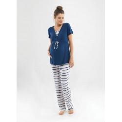 Blackspade Hamile Kadın Pijama Takımı 6831 Lacivert