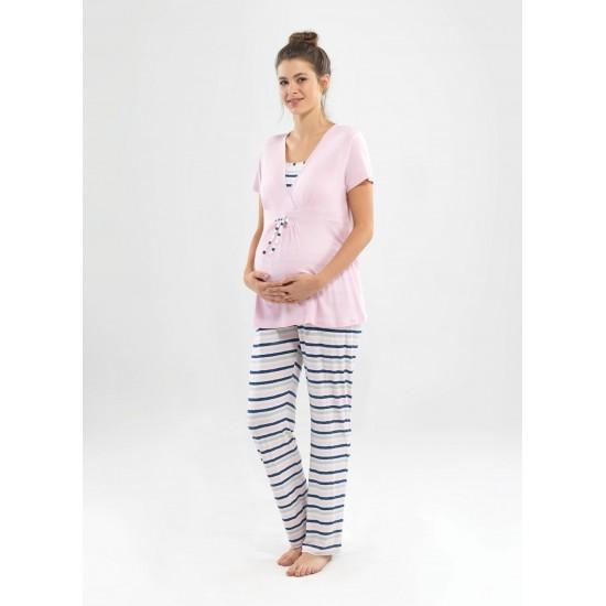 Blackspade Hamile Kadın Pijama Takımı 6831 Pembe