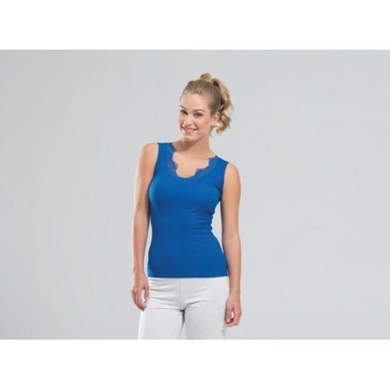 Blackspade Basics Kadın Atlet 5789 Saks Mavi