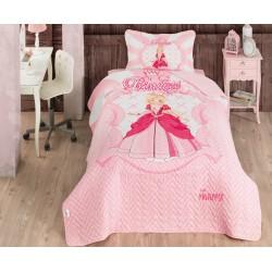 Clasy Princess Ranforce Tek Kişilik Yatak Örtüsü Seti Takımı Pembe