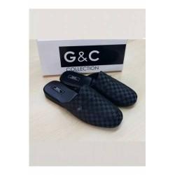 G&C Poli Taban Ekoseli Çeyiz Terlik GC385-A