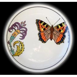 Kelebek Desenli El Yapımı Çini Tabak Aglais Urticae