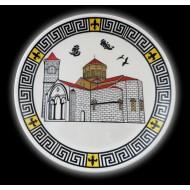Trabzon Ayasofya Müzesi Desenli El Yapımı Çini Tabak