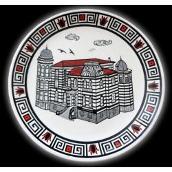 Trabzon Kostaki Konağı Desenli El Yapımı Çini Tabak