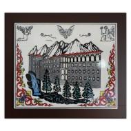 Trabzon Sümela Manastırı Desenli El Yapımı Çini Pano