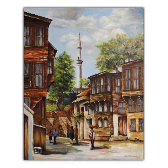 Eski İstanbul Yağlı Boya Tablo