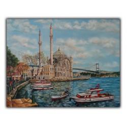 İstanbul Ortaköy Cami Yağlı Boya Tablo