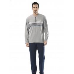 Türen Baskılı Uzun Kollu Erkek Pijama Takımı 4113